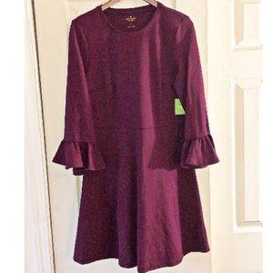 Kate Spade Ruffle Sleeve Ponte Dress